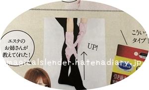 マジカルスレンダーのきつい時の履き方の画像