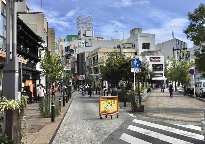 小田原駅からかまぼこ通りへの道