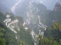 天門洞へのシャトルバス用新道(中国湖南省張家界)