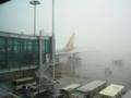 濃霧のインチョン国際空港(韓国仁川)