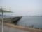 高松港玉藻防波堤と小豆島(右奥)(香川県)