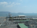 マリンライナーの車窓から,竪場島(中央)(岡山県)