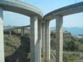 マリンライナーの車窓から,櫃石島インターチェンジ(香川県)