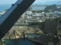 マリンライナーの車窓から,瀬戸大橋フィッシャーマンズワーフ(香川)