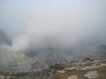 イジェン火山,火口湖(濃霧)(東ジャワ州,インドネシア)