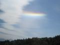 水平アークの虹(鹿児島県上空)