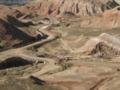 張掖丹霞地質公園,公園整備工事中(中国甘粛省張掖市)