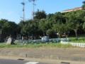 済州ワールドカップ競技場の近くの交差点(韓国済州道西帰浦市)