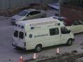 重慶の救急車(中国重慶市渝北区)