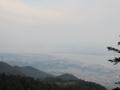 ケーブル延暦寺駅からの眺め,琵琶湖大橋(中央),北湖(左奥)(滋賀県)