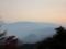ケーブル延暦寺駅(坂本ケーブル)からの眺め,音羽山の夕焼け(滋賀県)