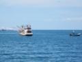 タイの漁船(トラン県,タイ)