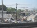 タイ大洪水の跡(ラムルークカー郡,パトゥムターニー県,タイ)