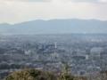 東山山頂公園(通称将軍塚)展望台より京都中心部(京都市)