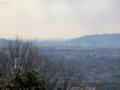 東山山頂公園(通称将軍塚)展望台より南・伏見区方面(京都市)