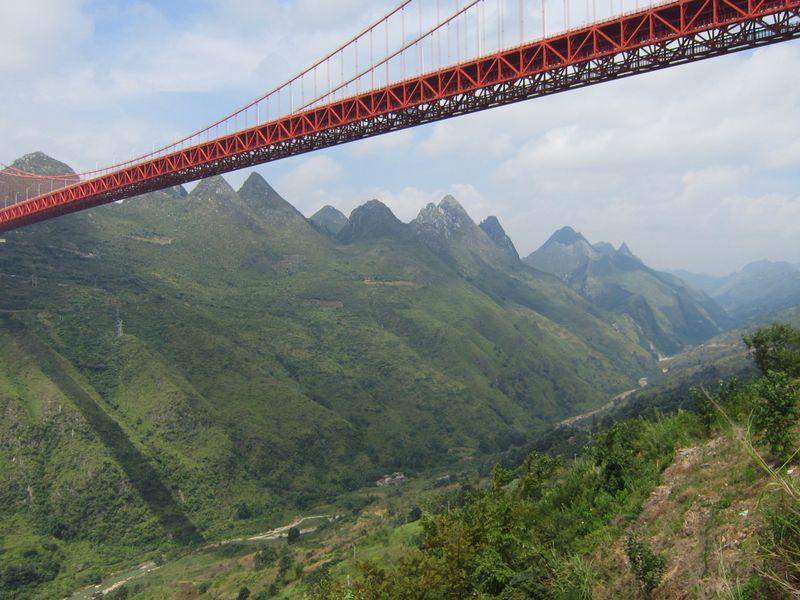個別「坝陵河峡谷の大橋(中国貴...