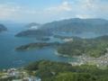 五老スカイタワー展望台からの風景,舞鶴湾(京都府舞鶴市)