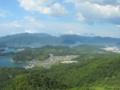 五老スカイタワー展望台からの風景(京都府舞鶴市)