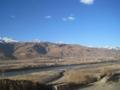 甘孜の街の周囲の風景(中国四川省カンゼ自治州甘孜県)