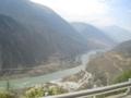 大渡河(中国四川省カンゼ・チベット族自治州瀘定県)