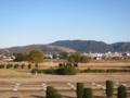 若草山(左),春日山(花山)(中),高円山(右端)(奈良県奈良市)