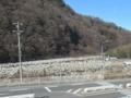 木曽川の花崗岩堆積状況(長野県木曽郡)