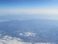 (前から)御嶽山,中央アルプス,南アルプス,富士山(東山地方)