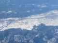 安曇野(松本盆地)の雪景色(長野県大町市)
