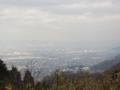高安山駅の展望台からの昼景(大阪府)