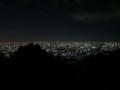 高安山駅の展望台からの夜景(大阪府)
