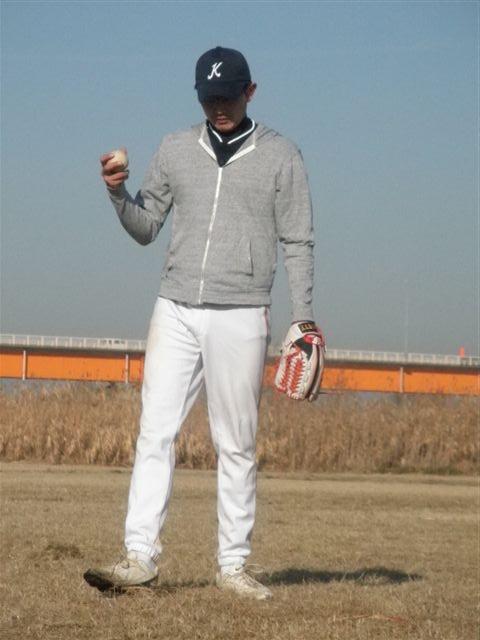 自主トレ 小俣選手