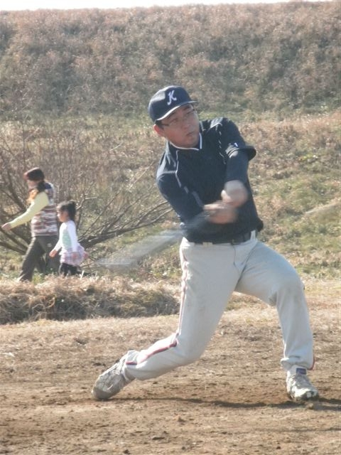 自主トレ 宇戸選手