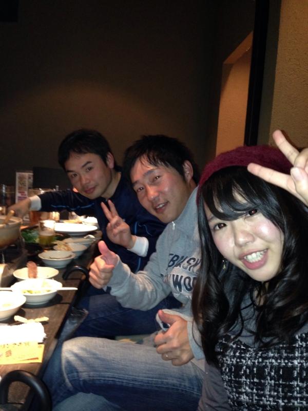 佐藤選手、山口選手、浅野マネ