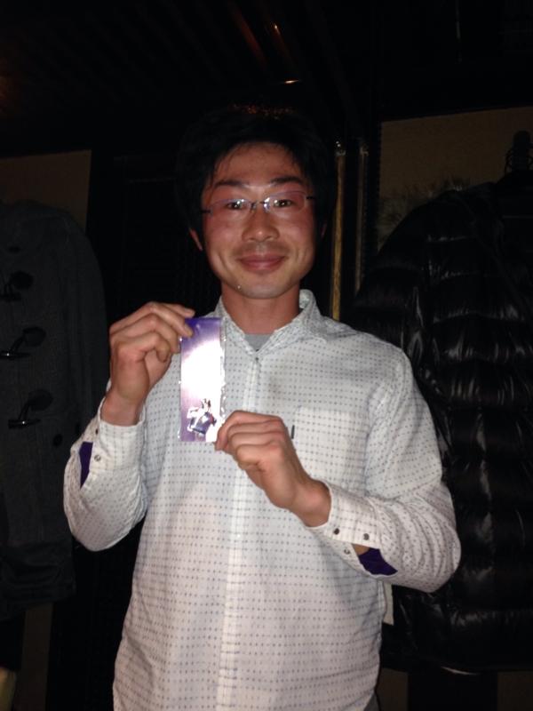 新人賞の柳沼選手
