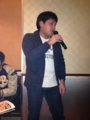 須田選手、独唱