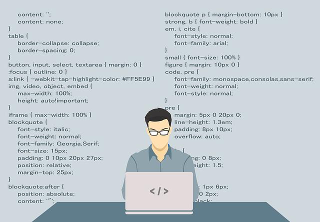 プログラミングしているエンジニアの画像
