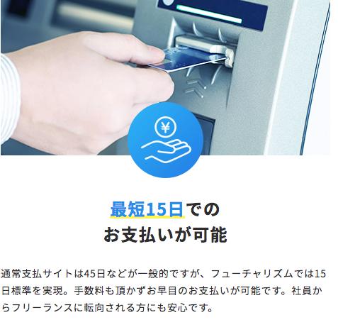 フューチャリズム(futurizm)の支払サイトは15日