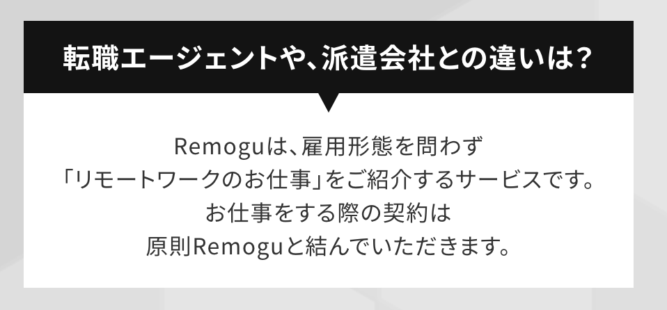 Remogu(リモグ)の契約形態