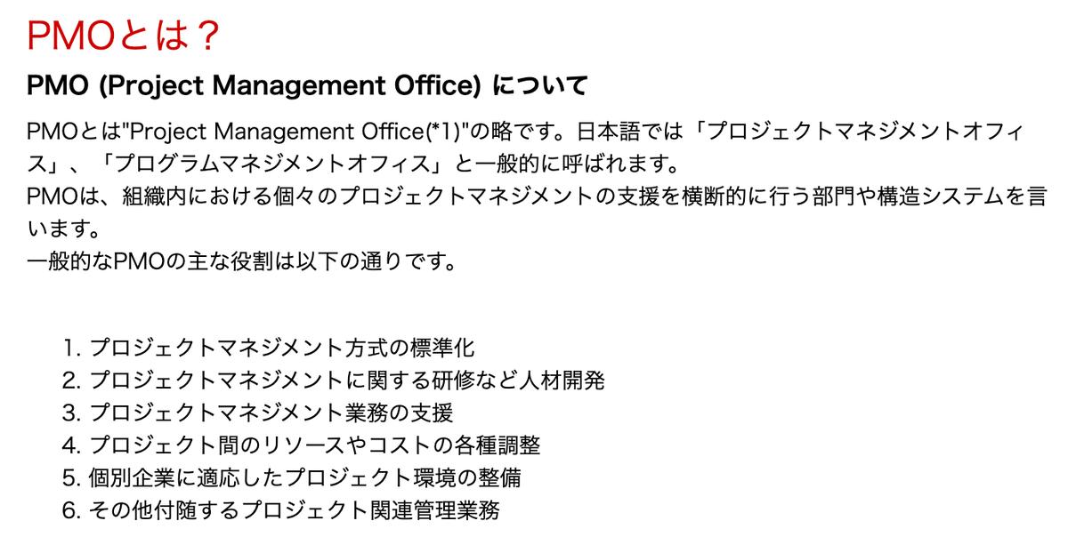"""PMOとは""""Project Management Officeの略"""