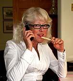 Notgeile Oma am Telefon