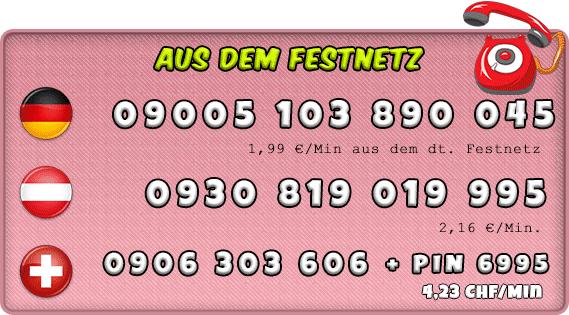 Festnetz Telefonsex Nummern für Transen und Shemales - Deutschland, Österreich und Schweiz