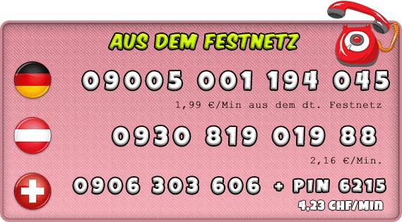 Festnetz Nummern für Teentelefonsex