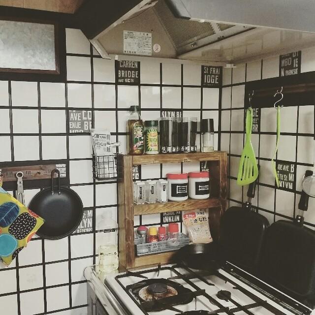 キッチンをブルックリン風にリメイク