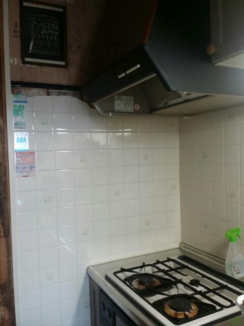 賃貸のタイルキッチン