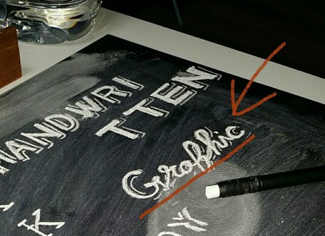 黒板に描くチョークレタリング