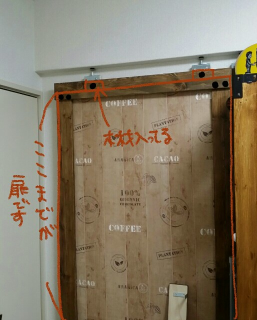 DIYのビス固定で穴を開けた場所