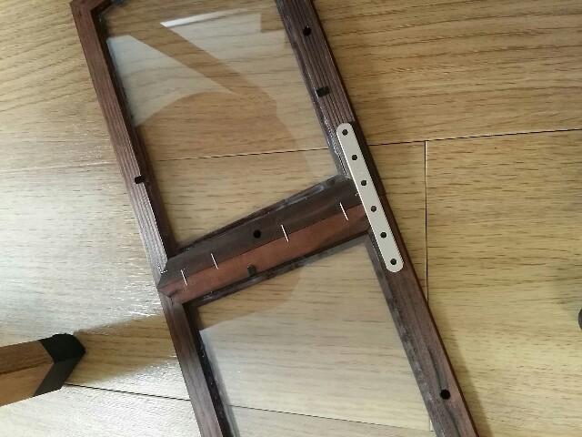 小窓付き収納棚DIY