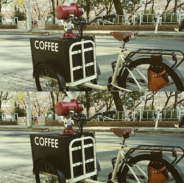 大阪天満橋カフェの目印自転車