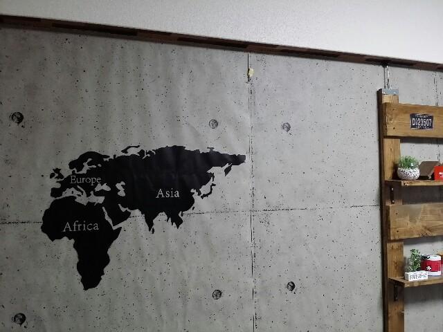 世界地図のウォールステッカー