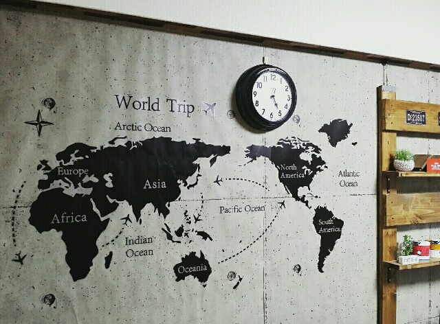 地図のウォールステッカー
